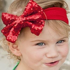 Other - Red sequin bow headband ♥️